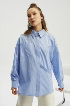 قميص نسائي مزين بشريط على الخصر