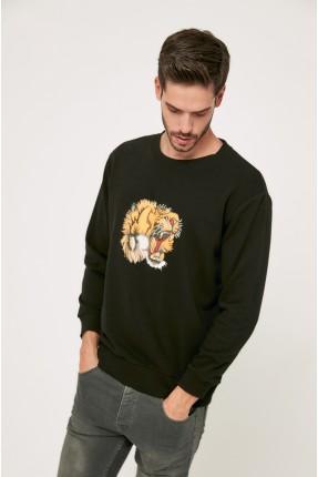 كنزة رجالية بطبعة نمر