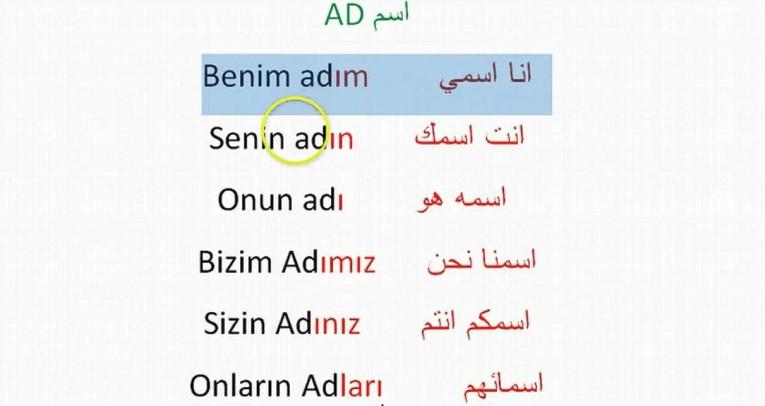 نتيجة بحث الصور عن صور الضمائر الشخصية في اللغة التركية