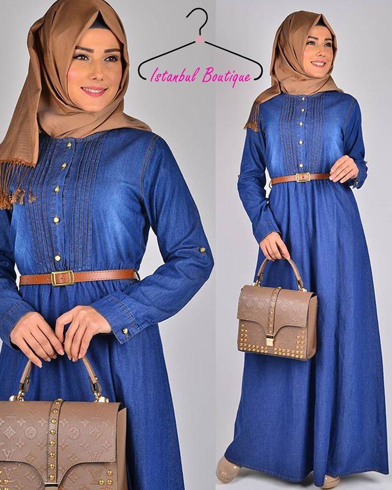 007363d475a34 صورة 1 من اصل 1. فستان جينز صيفي تركي ...