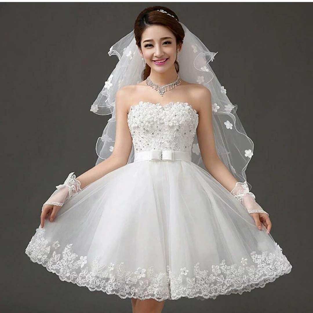1b4d8451a فستان زفاف ابيض قصير   السعر : 300 ليرة تركية   تركيا - ادويت