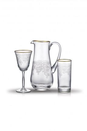 طقم زجاجي للشرب / 25 قطعة