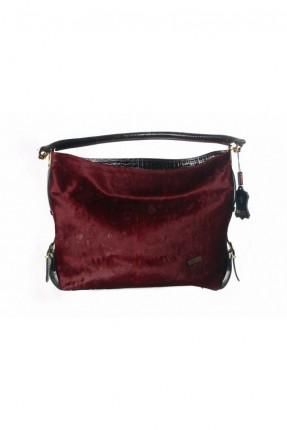 حقيبة جلد نسائية - احمر