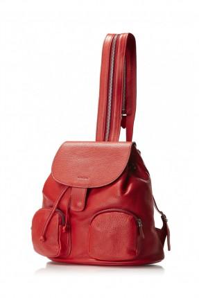 حقيبة نسائي ظهر - احمر