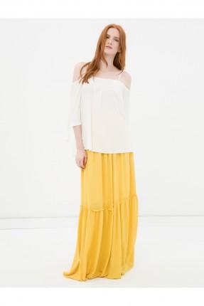 تنورة طويلة - اصفر