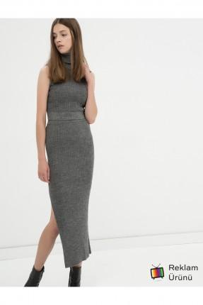 تنورة طويلة - رمادي