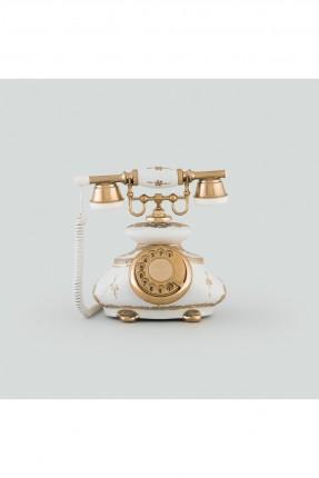 هاتف ابيض طراز قديم
