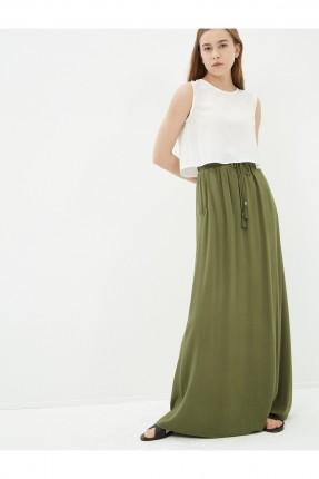 تنورة طويلة - خاكي