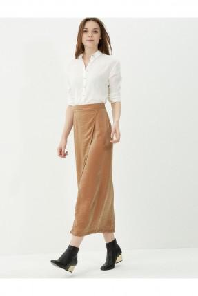 تنورة طويلة - بني