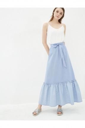 تنورة طويلة - ازرق
