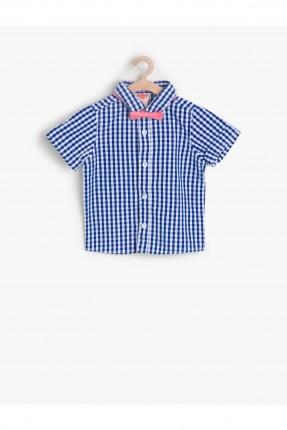 قميص ولادي كارو - ازرق