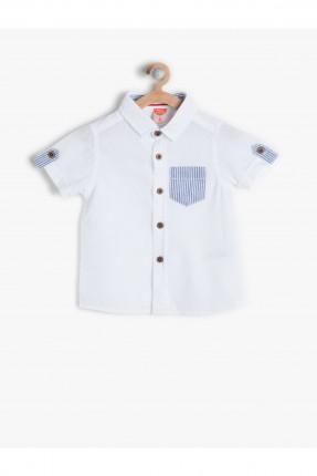 قميص ولادي - ابيض