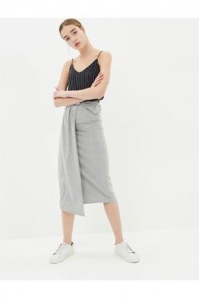 تنورة طويل - رمادي