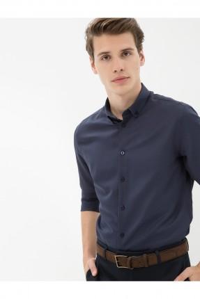 قميص رجالي - ازرق داكن