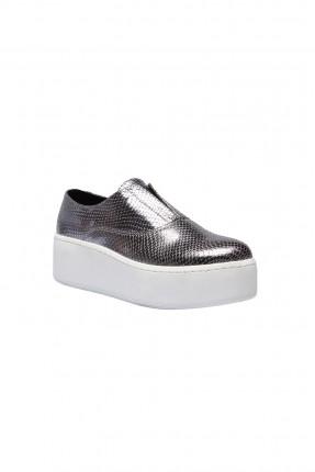 حذاء رياضة نسائي - فضي