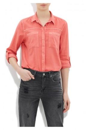 قميص نسائي - برتقالي