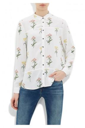 قميص نسائي - ابيض