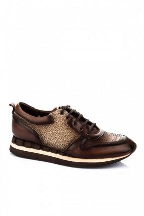 حذاء رياضة رجالي - عسلي