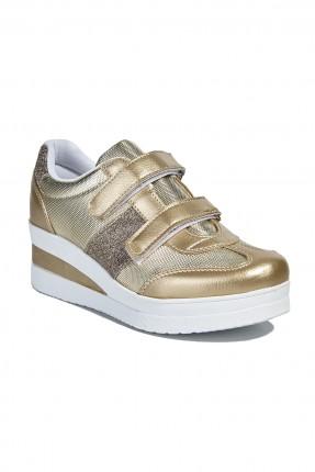 حذاء رياضة نسائي - ذهبي