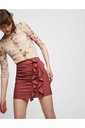 تنورة قصيرة - خمري