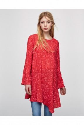 فستان قصير - احمر