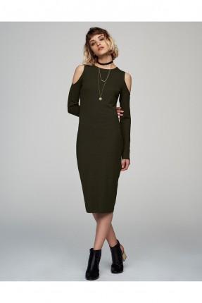 فستان قصير - خاكي