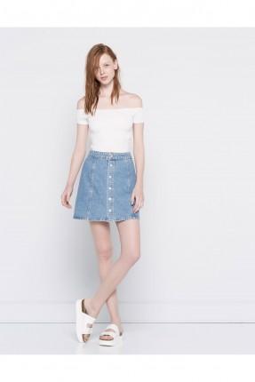 تنورة جينز قصيرة - ازرق