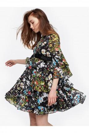 فستان قصير ملون