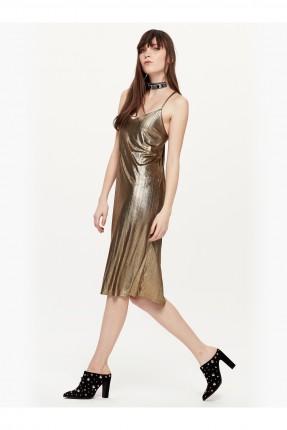 فستان قصير - ذهبي