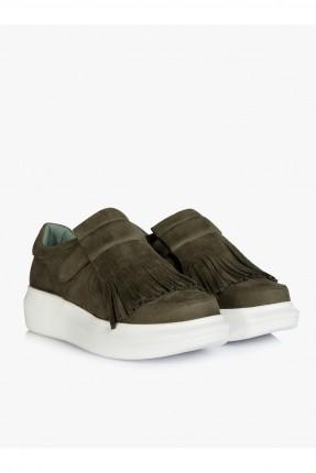 حذاء نسائي - خاكي
