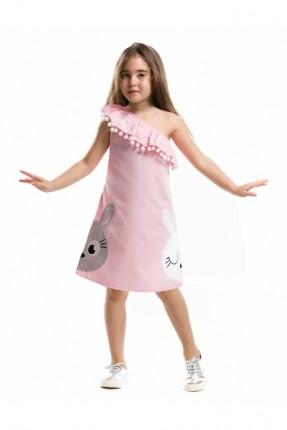 فستان بناتي - وردي