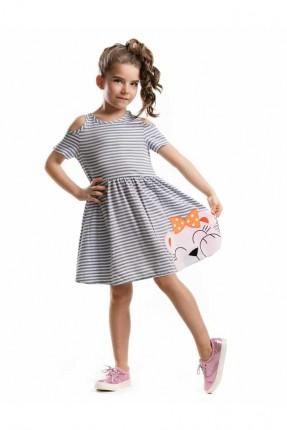 فستان بناتي مخطط