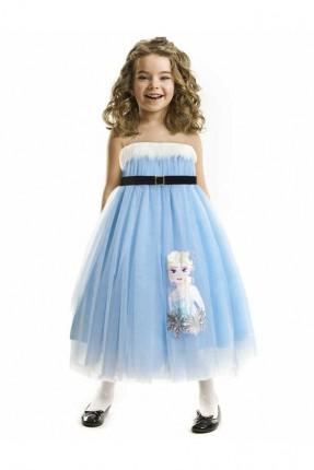 فستان بناتي - ازرق