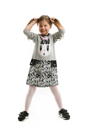 فستان بناتي - رمادي