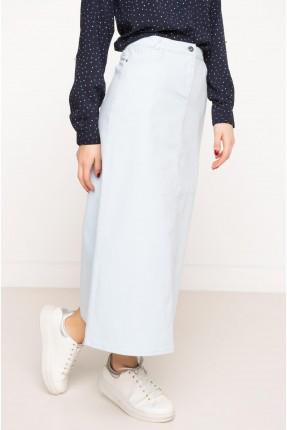 تنورة نسائية طويلة ضيقة - ازرق