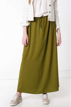 تنورة طويلة بعقدة - اخضر