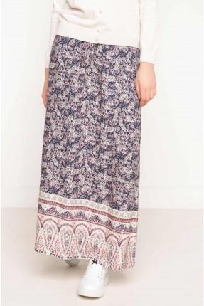 تنورة مزخرفة سبور - ازرق داكن