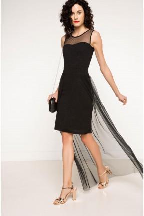فستان بديل شيفون - اسود