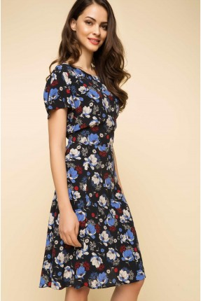 فستان سبور مورد - كحلي
