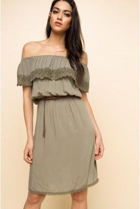 فستان كات مع كشكشة - زيتي