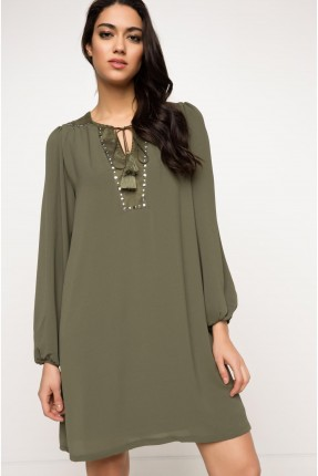 فستان سبور شيك - اخضر