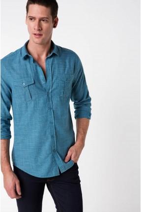 قميص رجالي - اخضر