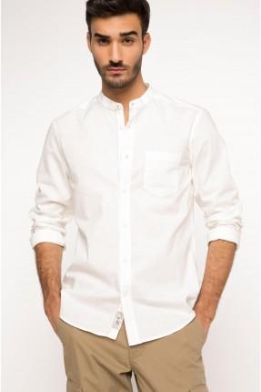 قميص رجالي سبور - ابيض