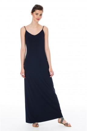فستان طويل شيال - ازرق داكن