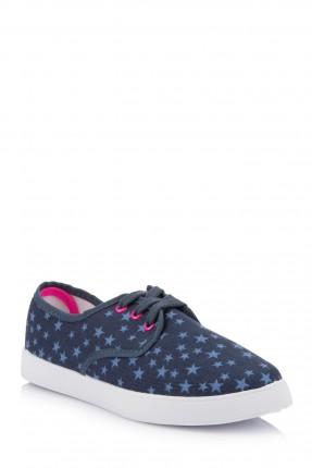 حذاء اطفال بناتي منقوش بنجوم - ازرق نيلي