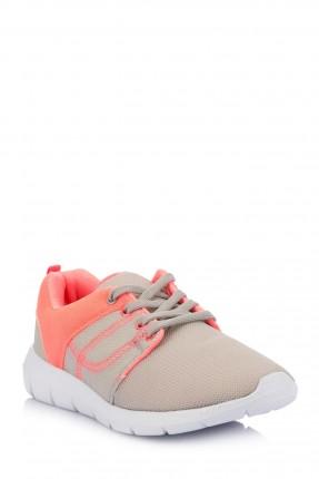 حذاء اطفال بناتي رياضي - رمادي
