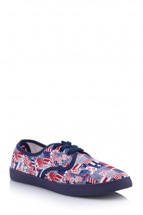 حذاء اطفال بناتي منقوش - ازرق