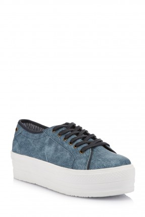 حذاء اطفال بناتي رباطات - ازرق غامق