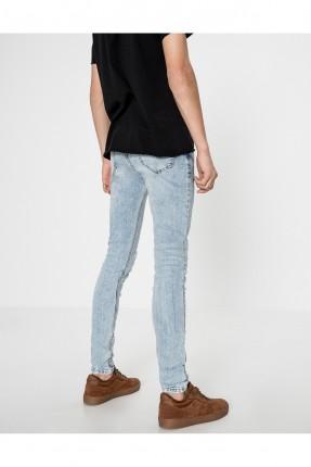 بنطلون جينز رجالي - ازرق فاتح