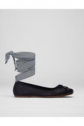 حذاء نسائي رباطات ساق - اسود
